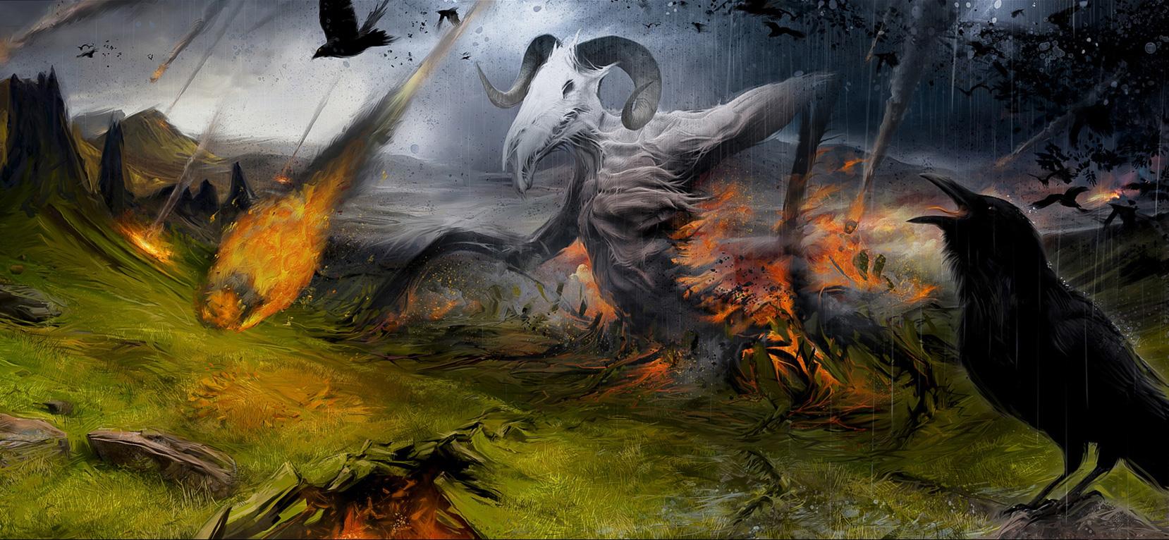 illustration by Yayashin - Dark Fantasy - apocalypse