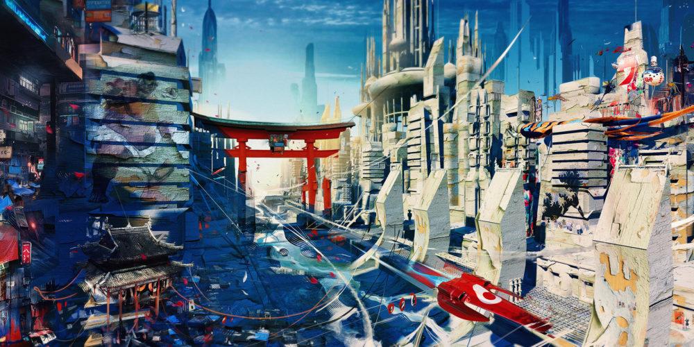 illustration by Yayashin - SciFi - Tokyo Wipeout