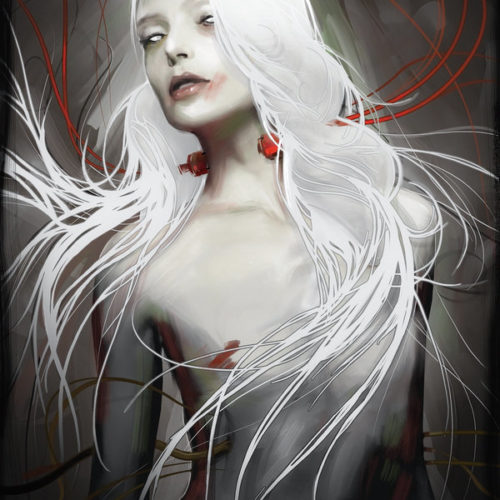 illustration by Yayashin - Dark fantasy - Vampire