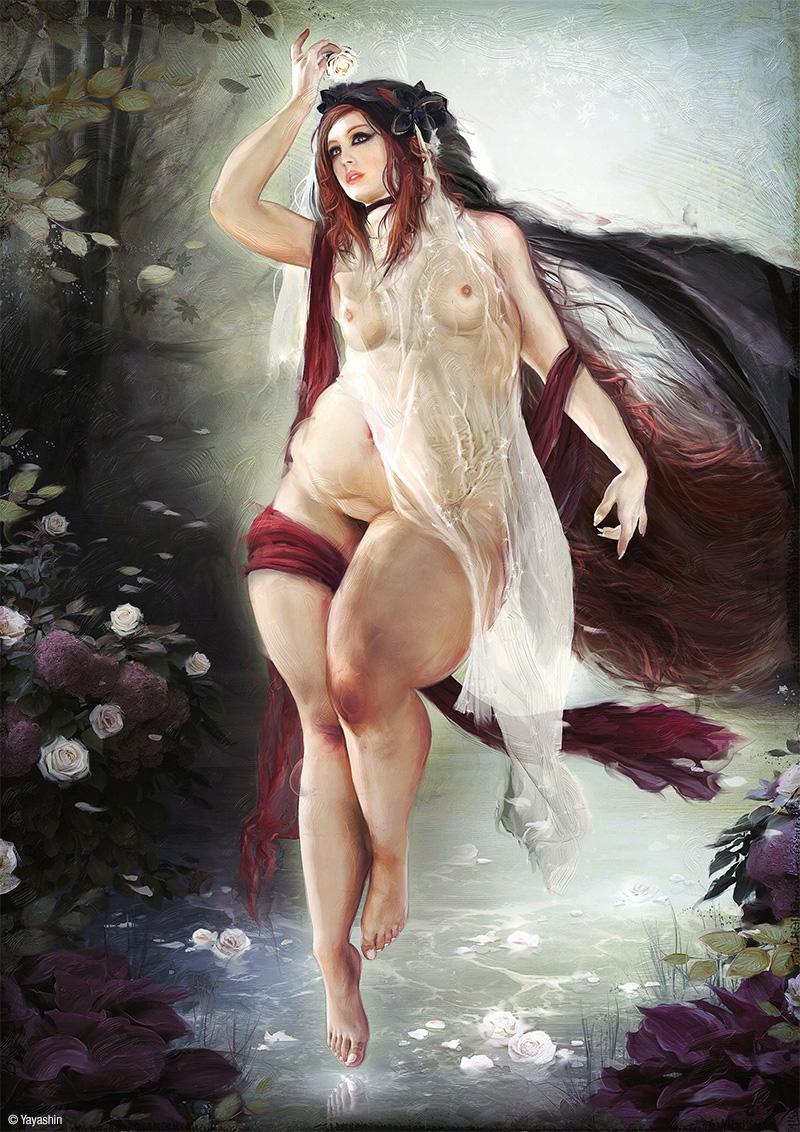 illustration by Yayashin - Dark fantasy - Venus